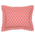 Quatrefoil Moroccan Decor Upholstery Lattice Coral Pillow Sham by Roostery image