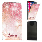 """Personalised NAME Marble PU Leather Flip Case Cover For Wileyfox Storm (5.5"""")"""