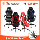 Zenez Gaming Office Computer Racing Chair Pu Leather Executive Racer Footrest
