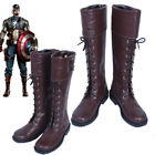 New The Avengers Captain America Winter Soldier Cosplay Shoes Boots Custom Made