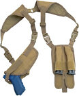 Concealed Carry Ambidextrous Shoulder Holster with Double Magazine Pouches CCWHolsters - 177885