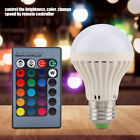 RGB RGBW E27 LED Bulb Light Color Changing Dimmable Remote Controller