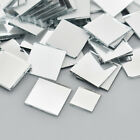 100 Pcs Small Square Glass Mirror Mosaic Tiles DIY Home Artwork Supplies Decor