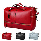 Women Leather Handbag Pilliow Shape Rivet Satchel Crossbody Bag Zip Tote Purse  image