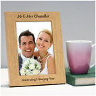 Personalised Couples 1st 5th 10th Wedding Anniversary Photo Frame Gifts Mr & Mrs