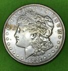 1921 Morgan Silver Dollar with weird thing on back