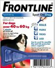 Frontline Spot On Flea and Tick treatment for Extra Large  XL Dogs 40-60kg