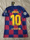 Lionel Messi #10 FC Barcelona 2019/20 Home Jersey Champions League