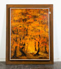 Mid Century Modern Oil Painting Bob Pepper Art Trees Abstract Original Signed M