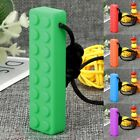 New Baby Oral Sensory Chew Toys Teether Necklace Chewing Building Block Teether