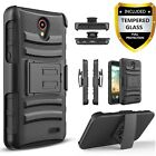 For ZTE Maven 3 Case, Belt Clip Combo Cover + HD Screen Protector