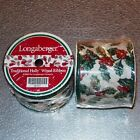 Longaberger Traditional Holly WIRED RIBBON 2-Rolls ~ Brand New in Shrink-Wrap!