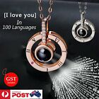 I Love You In 100 Languages Pendant Necklace For Memory Of Love Xmas Gift Au