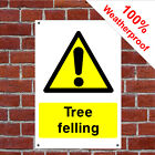 Tree felling sign COUN0029 Public Warning, Liability and hazard notices