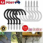 20 Pcs Pvc Coated Metal Screw In Cup Hooks Ring Plant Jewelry Hanger Holder Tool