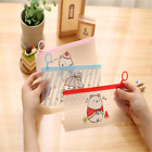 Cute Cartoon Style Student Stationery Bag Transparent Pencil Eraser Storage Case
