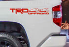 4X4 TRD Off Road Vinyl Decal Toyota Tacoma Tundra Truck bedside set of 2 sticker
