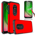 For T-Mobile Revvlry Phone Case Shockproof Armor TPU Cover With Screen Protector