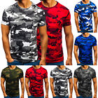 Men Military Comouflage Camo T-Shirt Army Combat Tee Summer Print Crew Neck Tops image