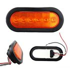Amber LED Chrome Metal Bullet Indicator Turn Signal Tail Light Flush Mount Truck