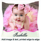 "Personalised Photo Satin Silky Cushion Gift Any Occasion 18""x 18"" Edge to Edge"