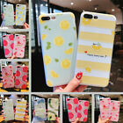 For iPhone XsMax XR 8 6s 7Plus Cute Fruits Slim Relief Soft TPU Phone Case Cover