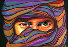 Sabra Berber Limited Edition A4 A3 A2 PRINT of Original Oil Painting