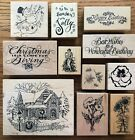 Kyпить *YOU PICK* PSX SEASONAL Wood Mounted Rubber Stamps - CHRISTMAS, FLOWERS, PHRASES на еВаy.соm
