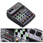 AI-4 Compact Sound Card Mixing Console Digital Audio Mixer 4-Channel BT MP3 USB photo