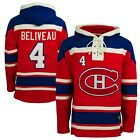 Jean Beliveau 47 Brand Hockey Lacer Jersey Hoodie Old Time Hockey Mtl Canadiens