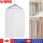 10x Plastic Clear Dustproof Cloth Cover Suit/Dress Garment Bag Storage Protector