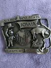 1983  LIMITED EDITION IOWA  NUMBER 1 HOG STATE BELT BUCLE SIOUX CITY , IA #1327
