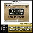 2018-19 O-PEE-CHEE PLATINUM HOCKEY 8 BOX (CASE) BREAK #H411 - PICK YOUR TEAM - $15.0 CAD on eBay