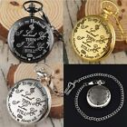 Vintage Steampunk Pocket Watch Quartz Full Hunter Pendant Retro Gift For Husband image