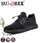 Mens Steel Toe Safety Shoes Work Boots Lightweight Indestructible Hike Sneakers