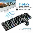 2.4G Wireless Rechargeable LED Backlit USB Gaming Keyboard and Mouse Set XM-620