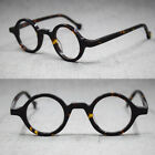 Hand Made Small Vintage Round Eyeglass Frames Full Rim Acetate Glasses Rx able