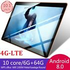 10.1 inch 4G-LTE Tablet Android 8.0 Bluetooth PC 6 64G Dual SIM w/ GPS Tablet PC