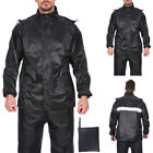 Mens Bike Raincoat Coat Pants Waterproof Windproof Rain Clothes Rainwear Suit $17.09 USD on eBay
