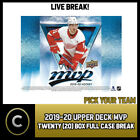 2019-20 UPPER DECK MVP HOCKEY 20 BOX (FULL CASE) BREAK #H419 - PICK YOUR TEAM - $30.0 CAD on eBay
