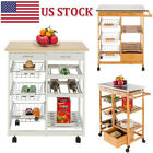 Moveable Kitchen Trolley Cart Rolling 3 Drawer Island Storage Serving Table Rack