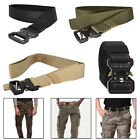 Military Style Mens Nylon Webbing Waist Belt Quick Release Buckle Army Tactical
