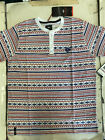 NWT ENYCE a Sean Combs Co. Men's White Aztec Print Henley T-shirt SZ: M,LXL,2XL