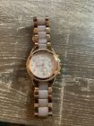 Michael Kors watch- Rose Gold women's with pink strap. Fully functioning