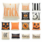 18'' Halloween Ghost Witch Pumpkin Pillow Case Trick Treat Cushion Cover Decor