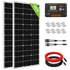 100W 200W 400W 600W 1KW Complete Solar Panel Kit  Gel Battery Charge RV Home
