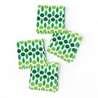 Cocktail Napkins Retro Ornaments Christmas Holiday Decoration Tree Set of 4