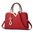 Womens Lady Leather Handbag Shoulder Messenger Satchel Tote Crossbody Purse Bags image
