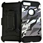 Urban Camo Rugged Holster Case Cover For iPhone 5/6/7/8 XS XR Glass Protector