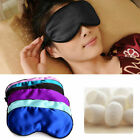 Pure Silk Sleep Eye Mask Padded Shade Cover Relax Aid Blindfolds Comfort 16color